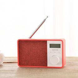 Hordozható Bluetooth hangszóró - PIROS - Beépített mikrofon, TF kártyaolvasó, AUX csatlakozás, FM rádió, LCD kijelzõ