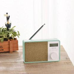 Hordozható Bluetooth hangszóró - CYAN - Beépített mikrofon, TF kártyaolvasó, AUX csatlakozás, FM rádió, LCD kijelzõ