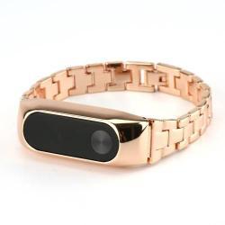 Acél okosóra szíj - Xiaomi Mi Band 2  - ROSE GOLD