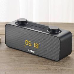 HORDOZHATÓ SZTEREO BLUETOOTH HANGSZÓRÓ - FM rádió, beépített mikrofon, TF kártyaolvasó, ébresztõóra funkció, 3,5mm jack aljzat - FEKETE