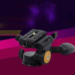 UNIVERZÁLIS állványfej, 360 fokban forgatható, 3 dimenziós, DSLR kamerák állványon való rögzítéséhez