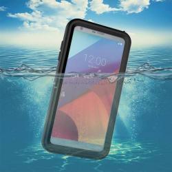 Vízhatlan / vízálló tok - 10m mélységig vízálló - FEKETE - LG G6