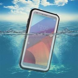 Vízhatlan / vízálló tok - 10m mélységig vízálló - FEHÉR - LG G6