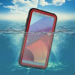 Vízhatlan / vízálló tok - 10m mélységig vízálló - PIROS - LG G6