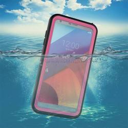 Vízhatlan / vízálló tok - 10m mélységig vízálló - RÓZSASZÍN - LG G6