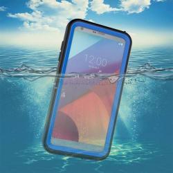 Vízhatlan / vízálló tok - 10m mélységig vízálló - KÉK - LG G6