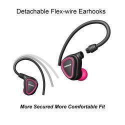 MONO BLUETOOTH Headset - V4.1, töltőtáskával, funkciógomb, fülkampó, fülbe illeszthető - RÓZSASZÍN