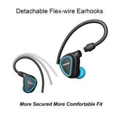MONO BLUETOOTH Headset - V4.1, töltőtáskával, funkciógomb, fülkampó, fülbe illeszthető - KÉK