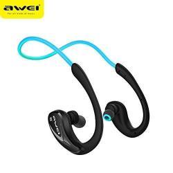 AWEI A880BL Sztereó Sport Bluetooth headset - V4.1, NFC párosítás, fülre akasztható - KÉK