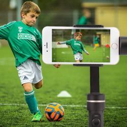 UNIVERZÁLIS Okostelefon stabilizátor - 3 tengelyes, elektronikus, 360 fokban forgatható, Selfie kioldó, 50-80 mm között állítható bölcsõvel - FEKETE
