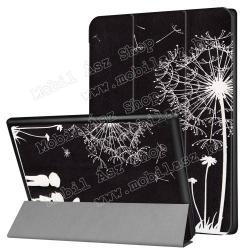 Notesz / mappa tok - PITYPANG / SZERELMES PÁR MINTÁS - oldalra nyíló flip cover, TRIFOLD asztali tartó funkció, mágneses záródás - Lenovo Tab 4 10