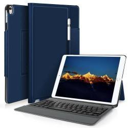 Notesz / mappa tok - KÉK - asztali állvány funkció, beépített bluetooth billentyűzet, ON/OFF funkciós - APPLE iPad Pro 10.5 (2017)