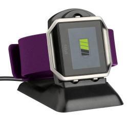 Asztali okosóra töltő / dokkoló állvány - FEKETE - Fitbit Blaze