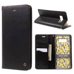 ROAR KOREA notesz / mappa tok - FEKETE - oldalra nyíló, belső zseb, asztali tartó funkció, szilikon belső - SAMSUNG SM-N950F Galaxy Note8 - GYÁRI