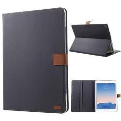 ROAR KOREA notesz / mappa tok - FEKETE - oldalra nyíló flip cover, asztali tartó funkció, mágneses záródás, szilikon belső - APPLE iPad Pro 10.5 (2017)