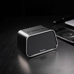 BASEUS Encok E02 hordozható bluetooth hangszóró, USB és microSD memóriakártya olvasás, 3,5mm aux, v.V4.2 - FEKETE - GYÁRI