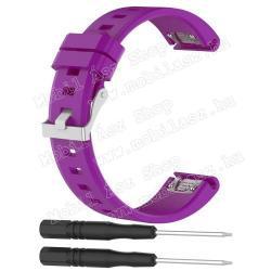 Okosóra szíj - LILA - szilikon, 12.7+9.3cm - Garmin fenix5 / forerunner935 / quatix5 / quatix5 Sapphire / Approach S60
