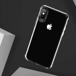 USAMS Drop-proof szilikon védő tok / hátlap - ÁTLÁTSZÓ - ERŐS VÉDELEM! - APPLE iPhone X / APPLE iPhone XS - GYÁRI