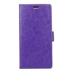 CRAZY notesz / mappa tok - LILA - oldalra nyíló, rejtett mágneses záródás, belső zseb, asztali tartó funkció, szilikon belső - Xiaomi Mi 5X / Xiaomi Mi A1