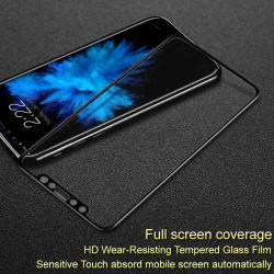 IMAK 3D Curved előlapvédő karcálló edzett üveg - FEKETE - 9H, A TELJES ELŐLAPOT VÉDI! - APPLE iPhone X / APPLE iPhone XS - GYÁRI