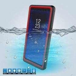 Vízhatlan / vízálló tok - 10m-ig és 24 óráig vízálló, por, kosz, hó ellen is véd! - PIROS - SAMSUNG SM-N950F Galaxy Note8