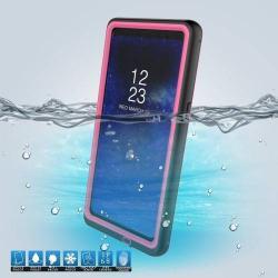 Vízhatlan / vízálló tok - 10m-ig és 24 óráig vízálló, por, kosz, hó ellen is véd! - RÓZSASZÍN - SAMSUNG SM-N950F Galaxy Note8
