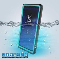 Vízhatlan / vízálló tok - 10m-ig és 24 óráig vízálló, por, kosz, hó ellen is véd! - CYAN KÉK - SAMSUNG SM-N950F Galaxy Note8