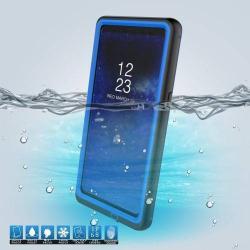 Vízhatlan / vízálló tok - 10m-ig és 24 óráig vízálló, por, kosz, hó ellen is véd! - KÉK - SAMSUNG SM-N950F Galaxy Note8