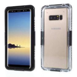Vízhatlan / vízálló tok - nyakba akasztható, 10m-ig vízálló - FEKETE / ÁTLÁTSZÓ - SAMSUNG SM-N950F Galaxy Note8