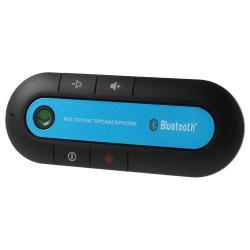BLUETOOTH kihangosító szett - napellenzőre rögzíthető, hordozható, Bluetooth 3.0, SUPERTOOTH BUDDY-hoz hasonló - KÉK