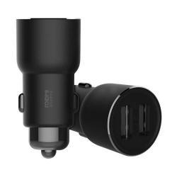 XIAOMI ROIDMI 3S szivargyújtós töltő / autós töltő USB aljattal - 2 USB aljzat, 2.4A*2 (Max. 3.4A) + Bluetooth hangszóró - FEKETE - GYÁRI
