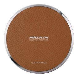 NILLKIN Magic Disk III - QI Univerzális vezeték nélküli töltő - 5V / 2A, 9V / 1.7A  - BARNA