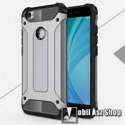OTT! MAX DEFENDER műanyag védő tok / hátlap - SZÜRKE - szilikon belső, ERŐS VÉDELEM! - Xiaomi Redmi Note 5A Prime / Xiaomi Redmi Y1