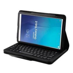 Flip / mappa bõrtok - bluetooth billentyûzet, ANGOL KIOSZTÁS! - SAMSUNG SM-T560 Galaxy Tab E 9.6 - FEKETE