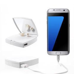 VORSON Mirror vésztöltő töltő / hordozható töltő - FEHÉR - 6000 mAh LI-ION beépített akkuval, USB aljzattal,5V/2,1A kimenet