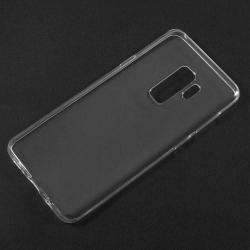 Szilikon védõ tok / hátlap - ULTRAVÉKONY! 0,6mm - ÁTLÁTSZÓ - SAMSUNG SM-G965 Galaxy S9+
