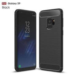 OTT! CARBON szilikon védő tok / hátlap - FEKETE - karbon mintás, ERŐS VÉDELEM! - SAMSUNG SM-G960 Galaxy S9