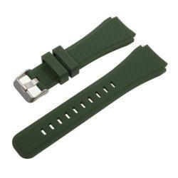 Pót szíj - szilikon - SAMSUNG Galaxy Watch 46mm / SAMSUNG Gear S3 Classic / SAMSUNG Gear S3 Frontier - SÖTÉTZÖLD