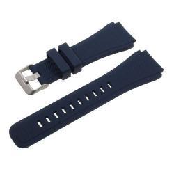 Pót szíj - szilikon - SAMSUNG Galaxy Watch 46mm / SAMSUNG Gear S3 Classic / SAMSUNG Gear S3 Frontier - 140 mm - 251 mm között állítható a méret - SÖTÉTKÉK