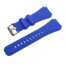 Pót szíj - szilikon - SAMSUNG Galaxy Watch 46mm / SAMSUNG Gear S3 Classic / SAMSUNG Gear S3 Frontier - SÖTÉTKÉK