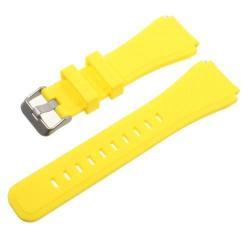 Pót szíj - szilikon - SAMSUNG Galaxy Watch 46mm / SAMSUNG Gear S3 Classic / SAMSUNG Gear S3 Frontier - SÁRGA