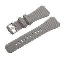 Pót szíj - szilikon - SAMSUNG Galaxy Watch 46mm / SAMSUNG Gear S3 Classic / SAMSUNG Gear S3 Frontier - SZÜRKE