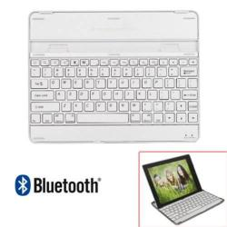 BLUETOOTH billentyűzet - ANGOL kiosztás, asztali tartó funkció, alumínium - APPLE iPad 2 / 3 / 4 / iPad 9.7 (2017) (5. Generációs) - EZÜST