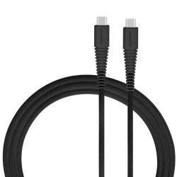 MOMAX USB Type-C / Type-C adatátviteli kábel / USB töltő 1,2 m, 3A - FEKETE - GYÁRI