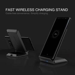 NILLKIN QI Wireless hálózati töltő állomás vezeték nélküli töléshez - 2 tekercses, fogadóegység nélkül! - FEKETE