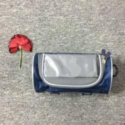 UNIVERZÁLIS biciklis / kerékpáros tartó mobiltelefon készülékekhez - 150 x 75 mm-es kijelzõkhöz, cseppálló védõ tokos kialakítás, 110 x 220mm-es táska - SÖTÉTKÉK