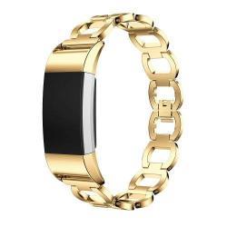 Fém okosóra szíj - ARANY - Fitbit Charge 2