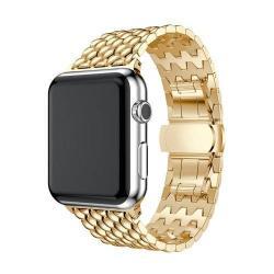 Fém okosóra szíj - ARANY - Apple Watch Series 1 / 2 / 3 - 38mm - ACÉL