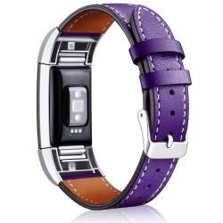 Okosóra szíj - LILA - valódi bőr - Fitbit Charge 2