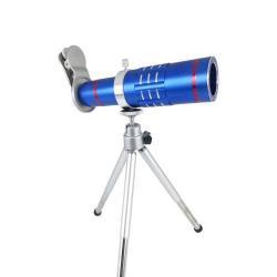 UNIVERZÁLIS kameralencse 18X HD optikai zoommal, mini tripod állvánnyal, teleszkóp - KÉK
